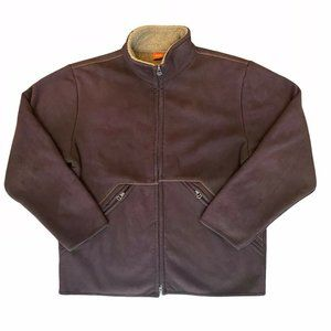 Hugo Boss The District Jacket Size XL Faux Suede